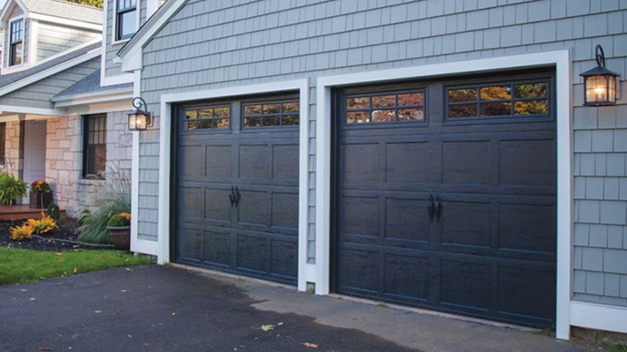 Carbon Black Garage Doors 1000 In 2020 Garage Doors Black Garage Doors Garage Service Door