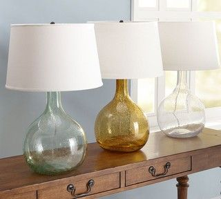 Marvelous Eva Colored Glass Table Lamp   Contemporary   Table Lamps     By Pottery  Barn