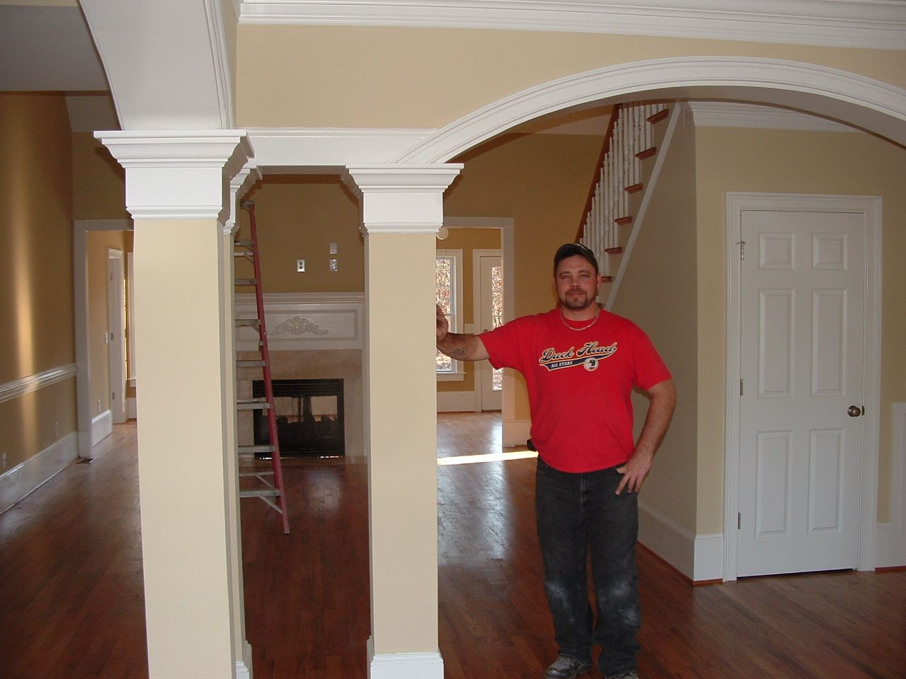 Arched interior doorways with wood pillars google search for Decorative archway mouldings