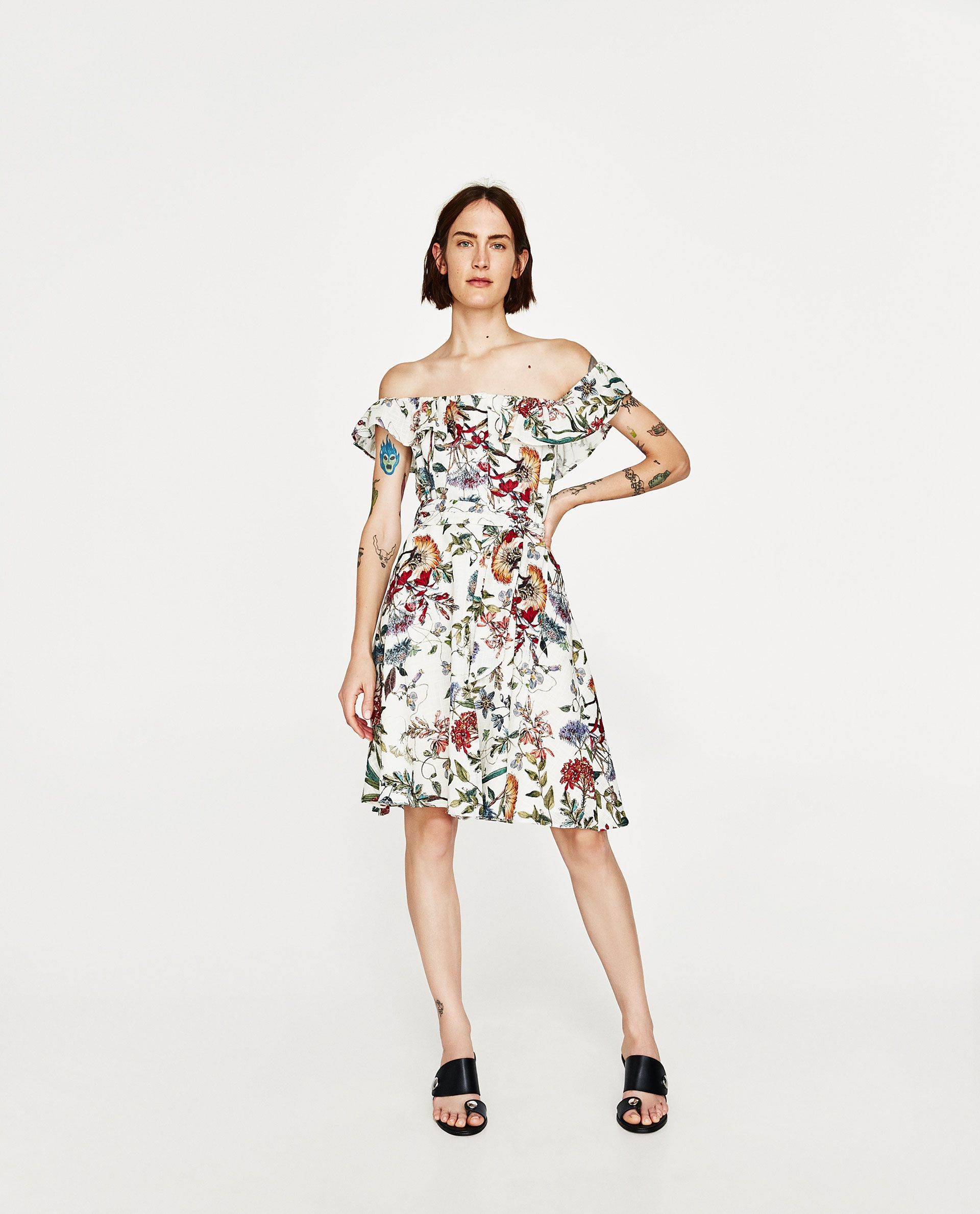 1acbb89f3ef ZARA - WOMAN - FLORAL PRINT LINEN DRESS