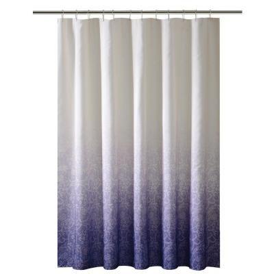 Bath Bliss 72 In Purple Shower Curtain In Ombre Printed Polyester 5406 Purple In 2020 Ombre Shower Curtain Blue Shower Curtains Curtains