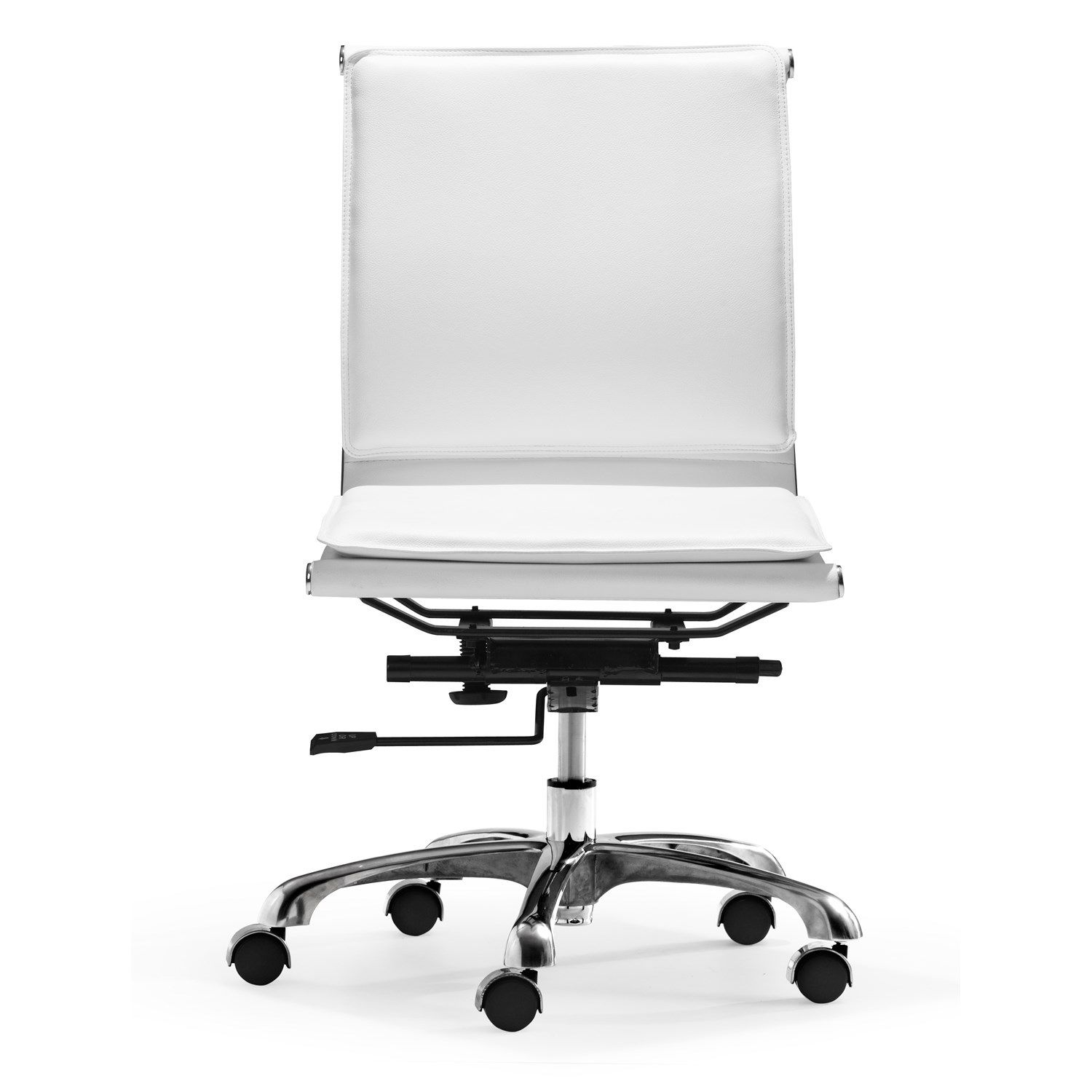 Armless White Office Chair Used Home Furniture Check More At Http
