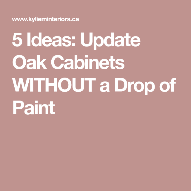 5 Ideas: Update Oak Or Wood Cabinets WITHOUT A Drop Of