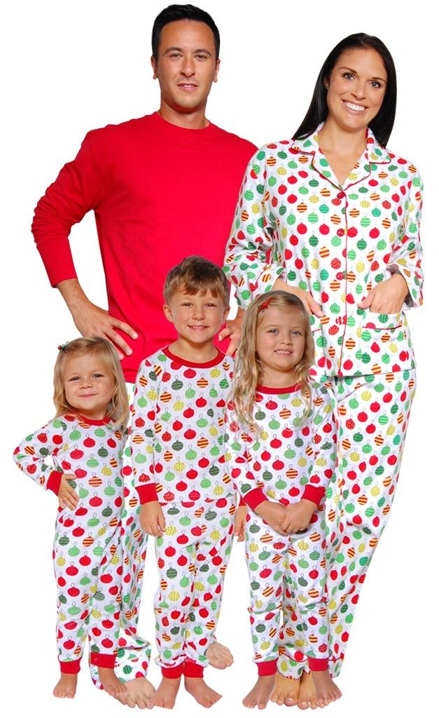 50c430b755ec Christmas Ornaments Family Matching Pajamas by SleepytimePjs ...