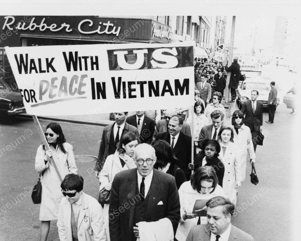Protest Peace March Vietnam 1960s Vintage 8x10 Reprint Of Old Photo Vietnam Vietnam War Vietnam Protests