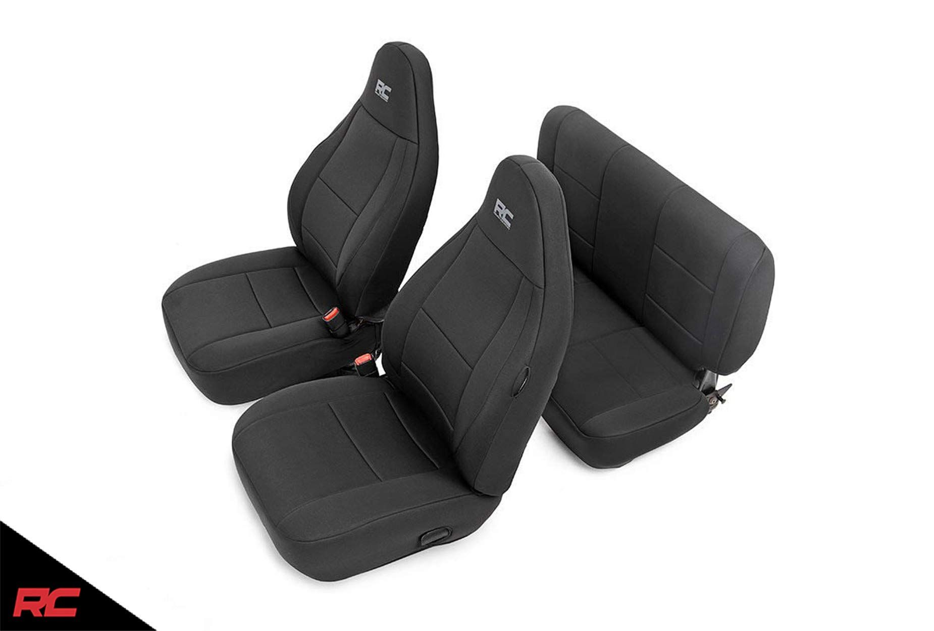 Rough Country 91000 Neoprene Seat Covers Black Compatible W 1997