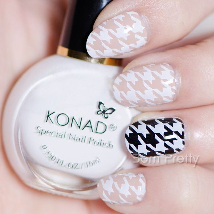 $8.44 11ml White Konad Nail Art Stamping Polish Professional ...