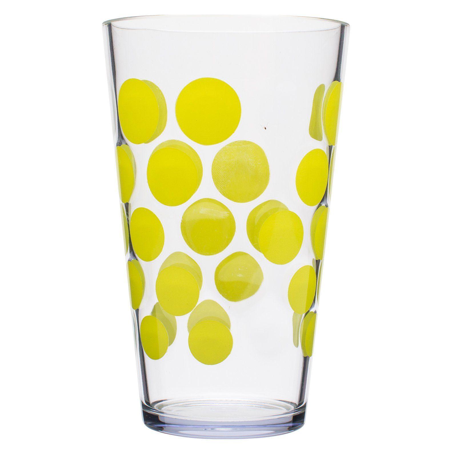 Zak Designs Dot Dot 19 Oz Hiball Glass Set Of 6 0989