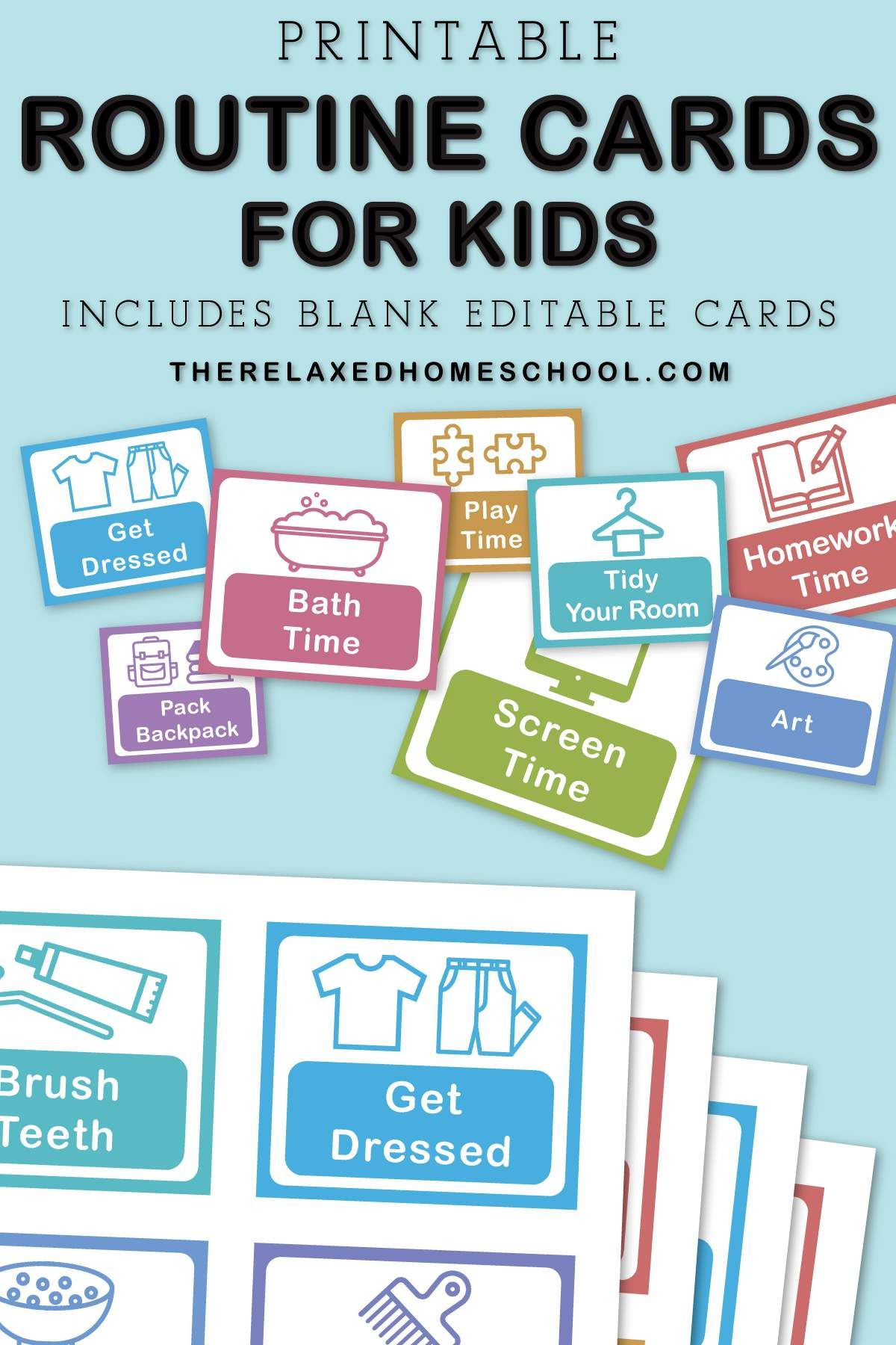 Printable Routine Cards With Images Routine Cards Kids