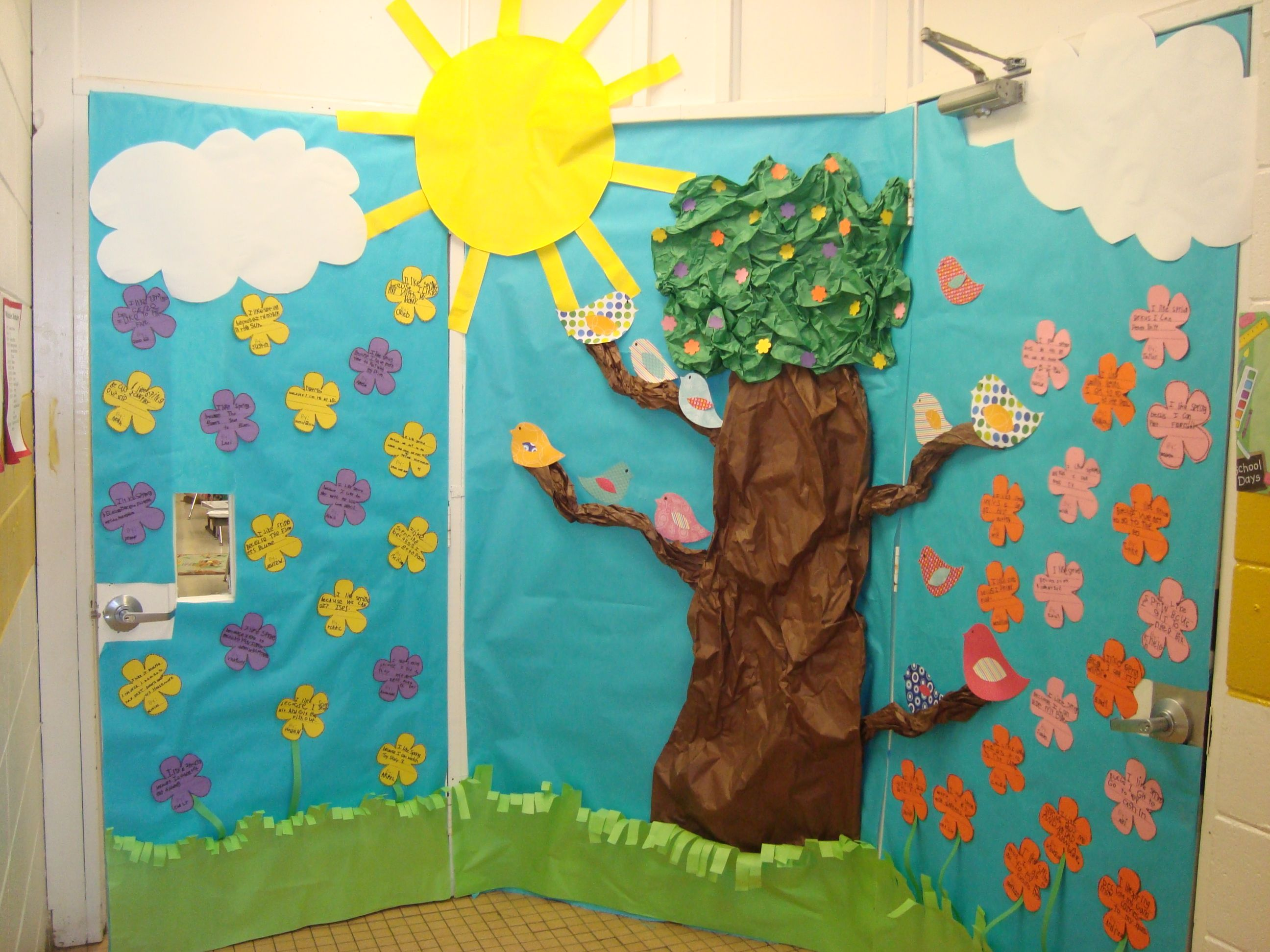 Spring Classroom Door Decoration @Samantha Coats