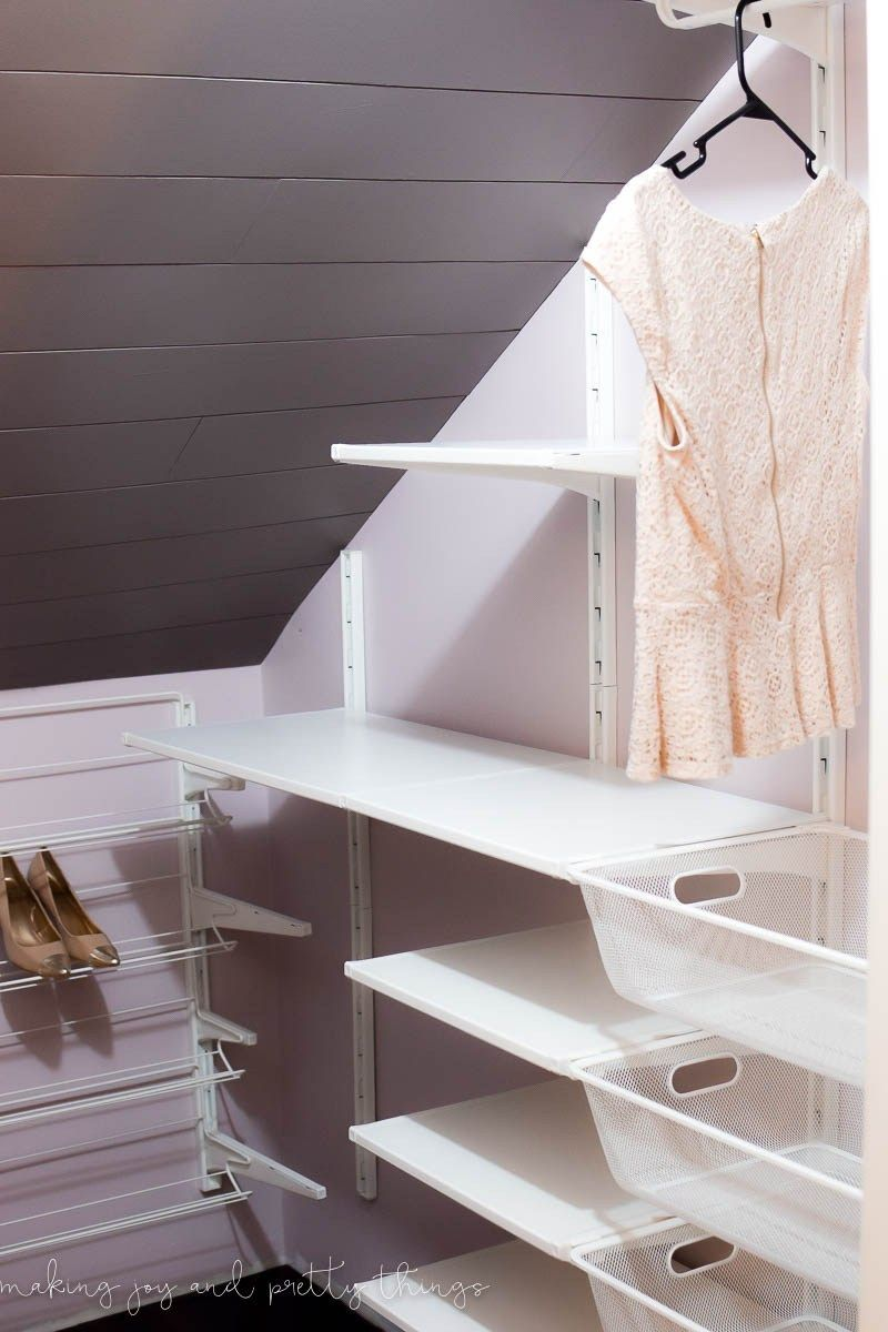 One Room Challenge {Week 3} - Designing the IKEA Algot Closet System - Making Joy and Pretty Things
