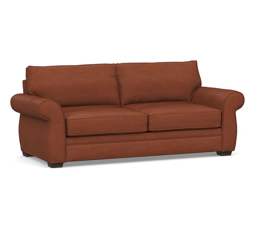 Pearce Roll Arm Leather Sofa Leather Sofa Sofa