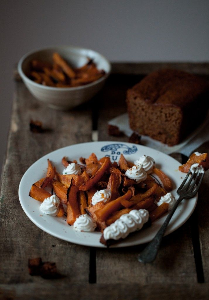 Spicy Sweet Potatoes with Whipped Ricotta