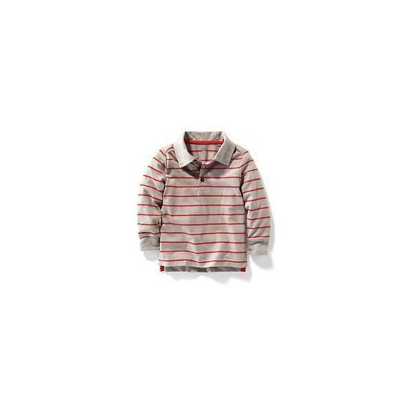 Long-Sleeved Striped Polo ❤ liked on Polyvore featuring tops, baby boy, long sleeve tops, old navy tops, stripe top, long sleeve polo tops and striped long sleeve top