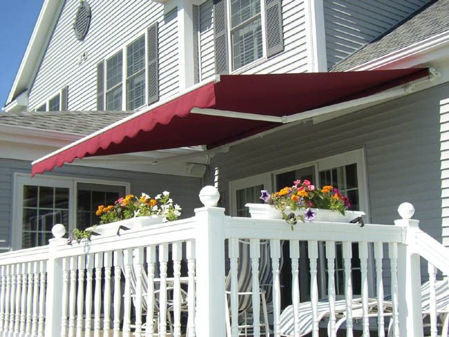 Patio Awning Burgundy External Awnings A Fashionable Addition