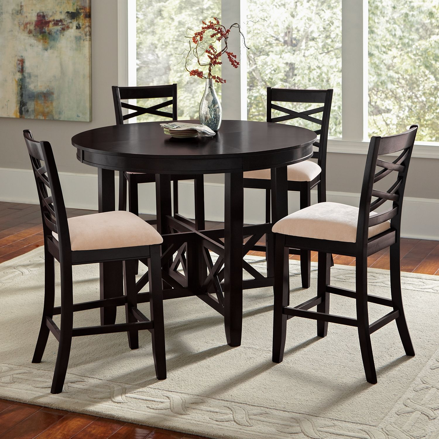 Dining Room Furniture Americana Ii 5 Pc Counter Height Dinette 400 American Signature Furniture Area Rug Dining Room Round Dining Table Dining Table