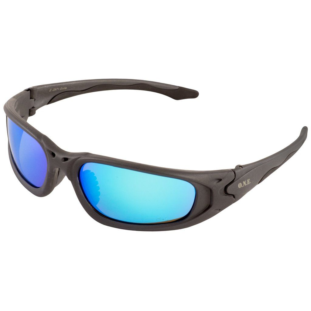 Erb one nation exile blue mirror safety glasses 18017 in