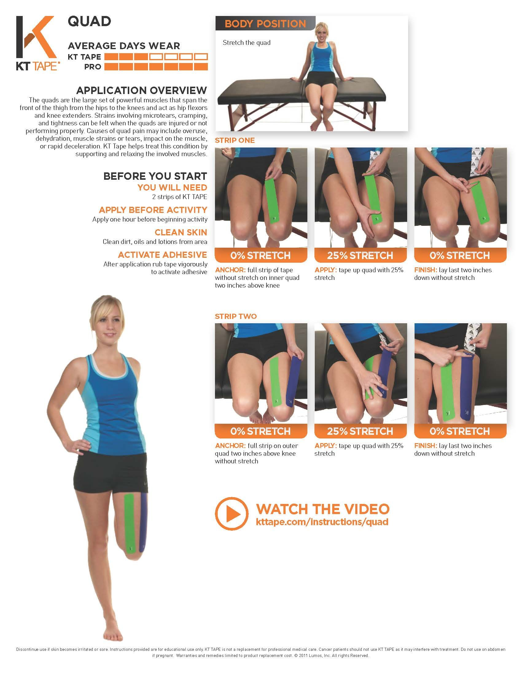 Printable Taping Instructions Fitnesso Pinterest Muscles