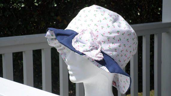 81fa67328938 chapeau d été chapeau de plage chapeau de soleil de créateur pour enfant de  coloris blanc rose vert et bleu  en coton imprimé liberty été
