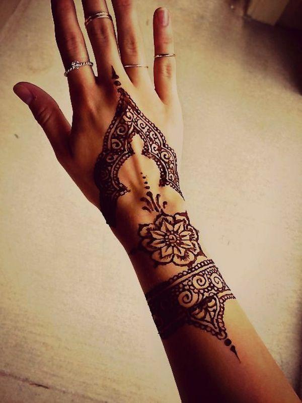 Simple Henna Tattoo On Hand Henna Tattoo Designs Henna Designs