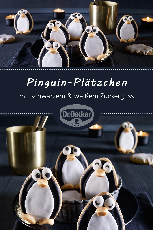 Weihnachtsplätzchen Backen Dr Oetker.Pinguin Plätzchen