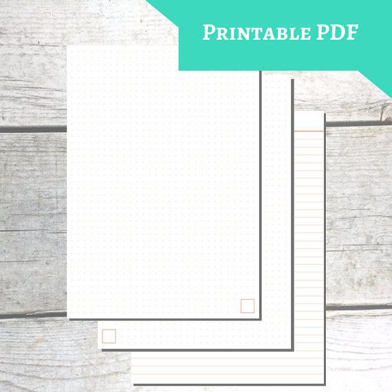 PRINTABLE A5 Paper   CORAL   Dot Grid + Lined Ruling There   Can You Print  Can You Print On Lined Paper