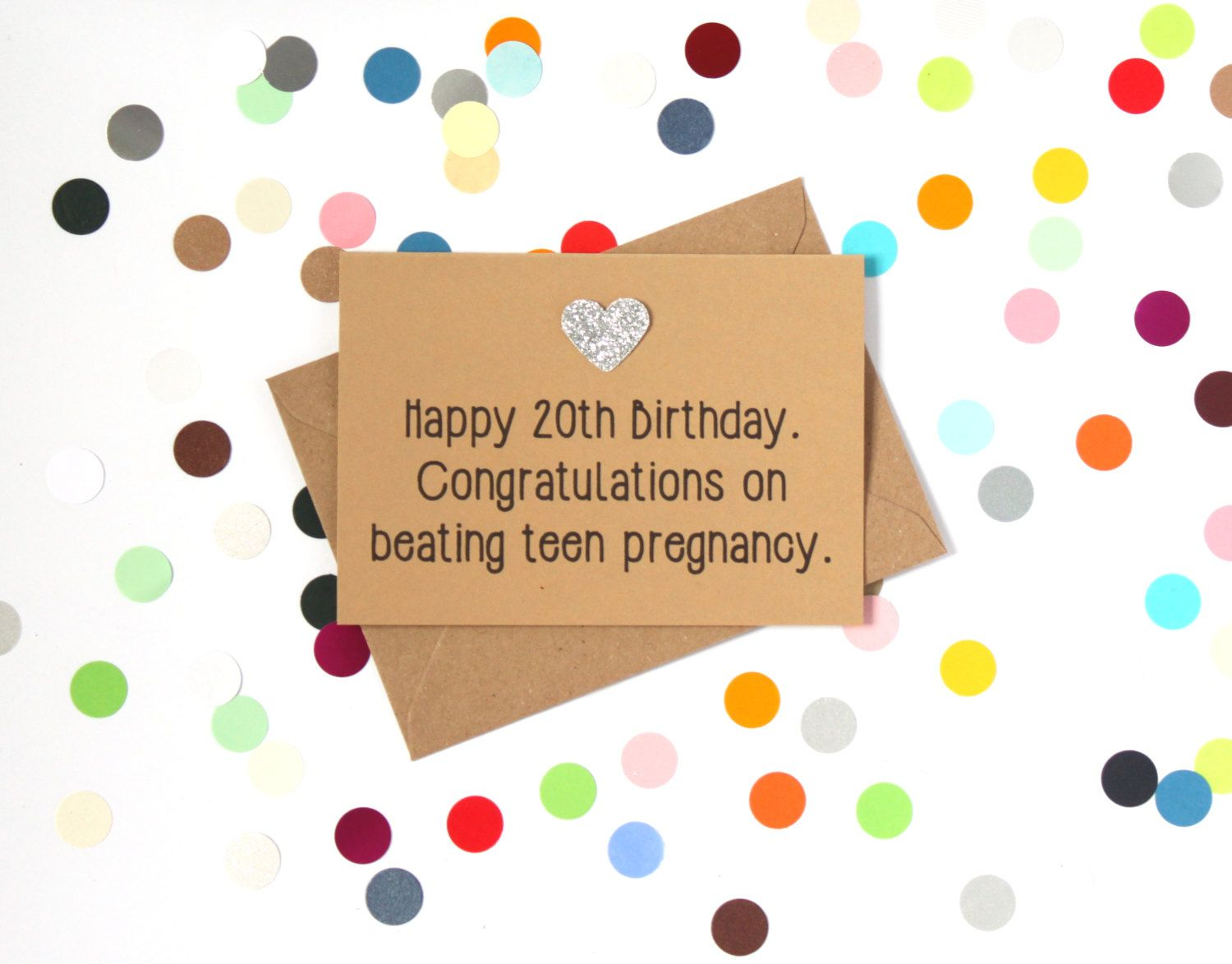 Funny 20th Birthday Card Congratulations On Beating Teen Pregnancy Handmade