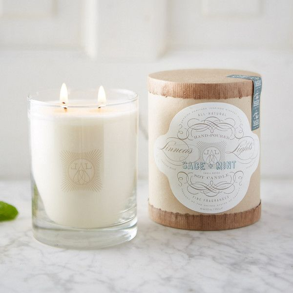 Linnea S Lights Candle Sage Mint 34 Liked On Polyvore Featuring Home