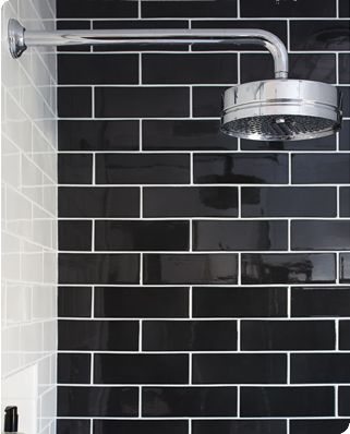 3x9 In Granite Star White Designer Urrutia Designs Photographer Matt Sartian Photography Black Subway Tiles White Subway Tile Bathroom Bathroom Shower Tile