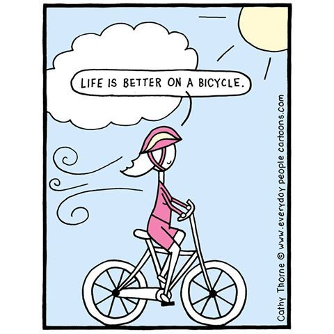Timeline Photos Everyday People Cartoons By Cathy Thorne Bicycle Cartoon Bicycle Humor Bicycle