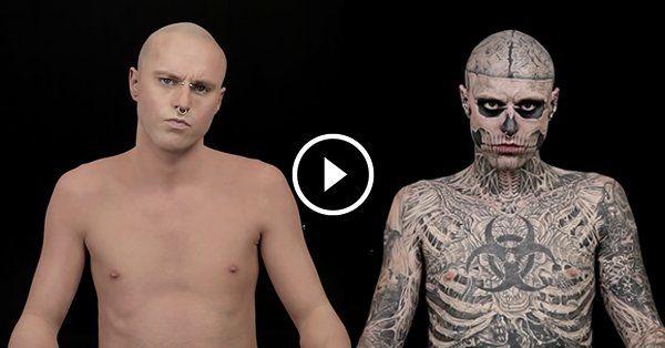 Zombie Boy Without Tattoos Tattoos Zombie Chest Piece