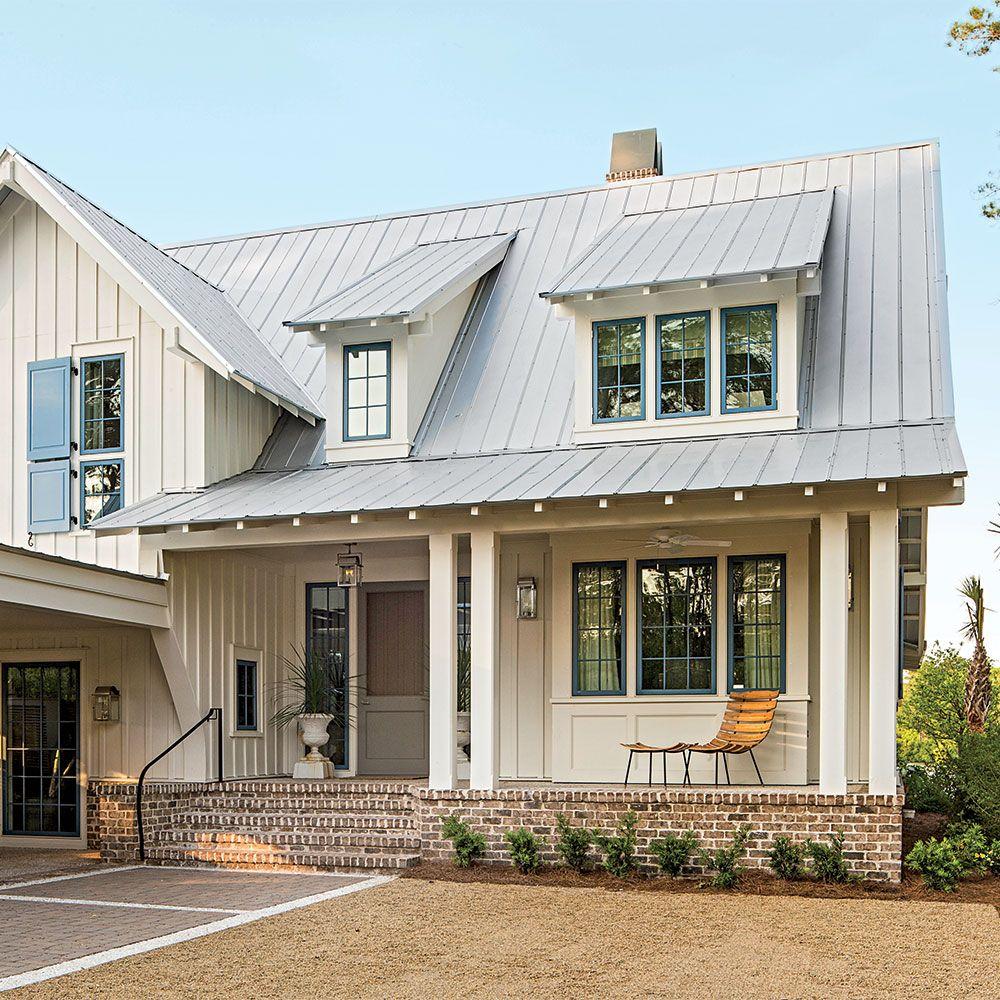Best Charming Home Exteriors Modern Farmhouse Exterior Farmhouse Exterior Colors Brick Porch 400 x 300