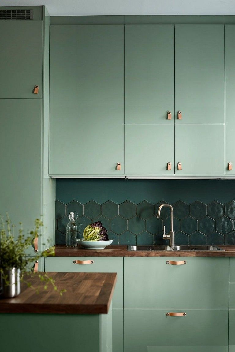 35 Top Inspiring Ikea Kitchen Home Design Ideas Kitchen Kitchenhouse Kitchendesignideas Rustic Kitchen Light Green Kitchen Green Kitchen Cabinets