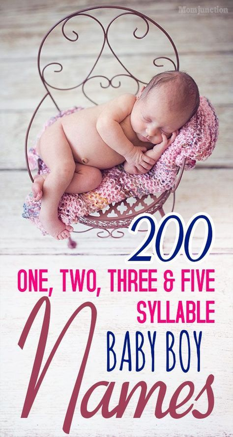 Top 200 Five, Three, Two, And One Syllable Boy Names | One ...
