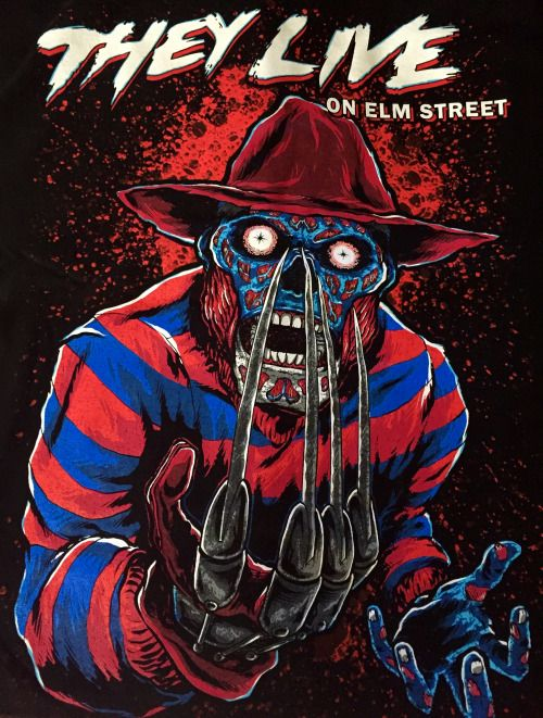 This They Live A Nightmare On Elm Street Mash Up From Candy Claw