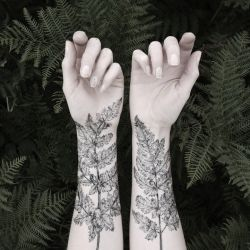 Beautiful & intricate NATURE GIRL: From the Forest temporary tattoos from illustrator Victoria Foster at UK print & pattern studio, The Avia...