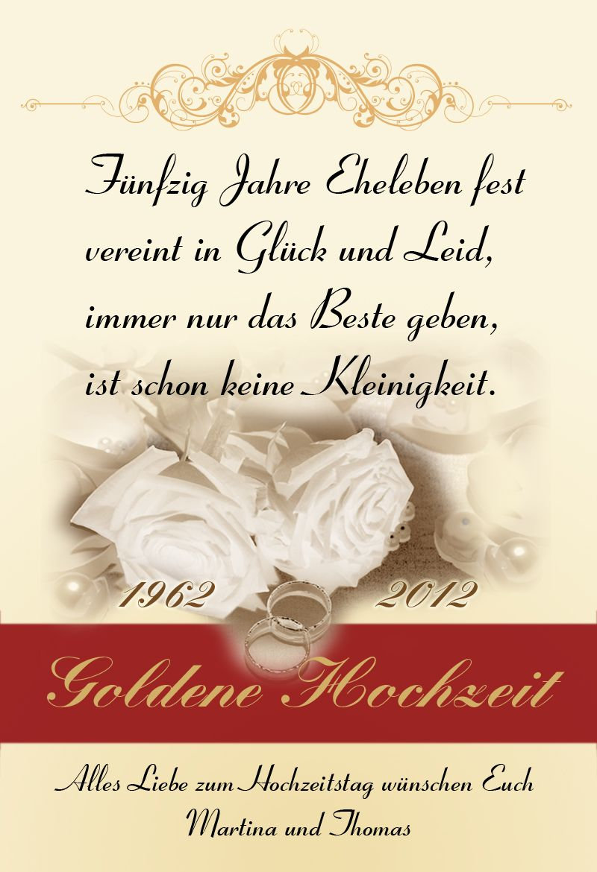 Schone Spruche Goldene Hochzeit Goldene Hochzeit Schone Spruche Funny Wedding Cards Free Wedding Wedding Quotes Funny