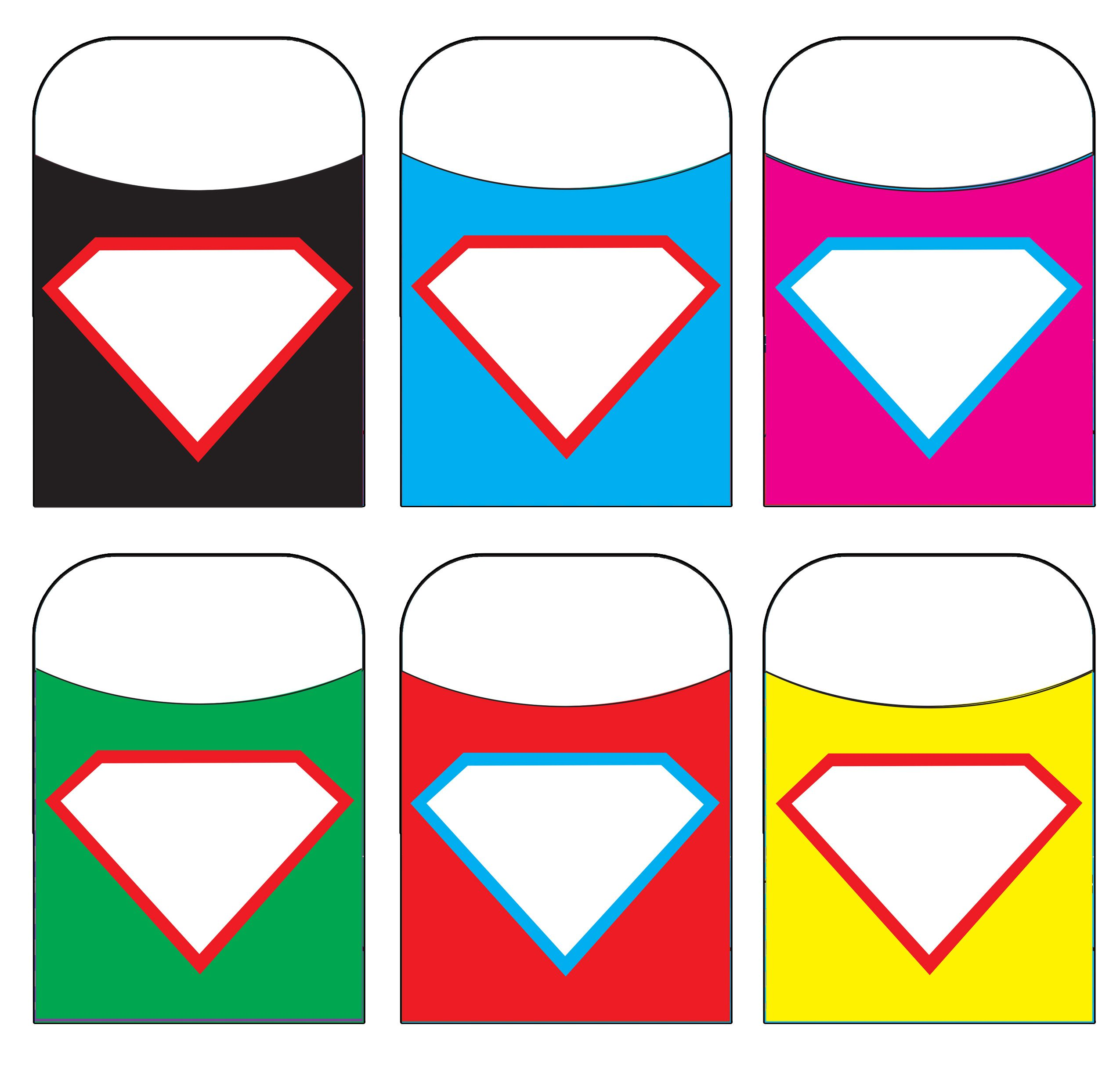 Superman Shield Library Pockets Great For Classroom