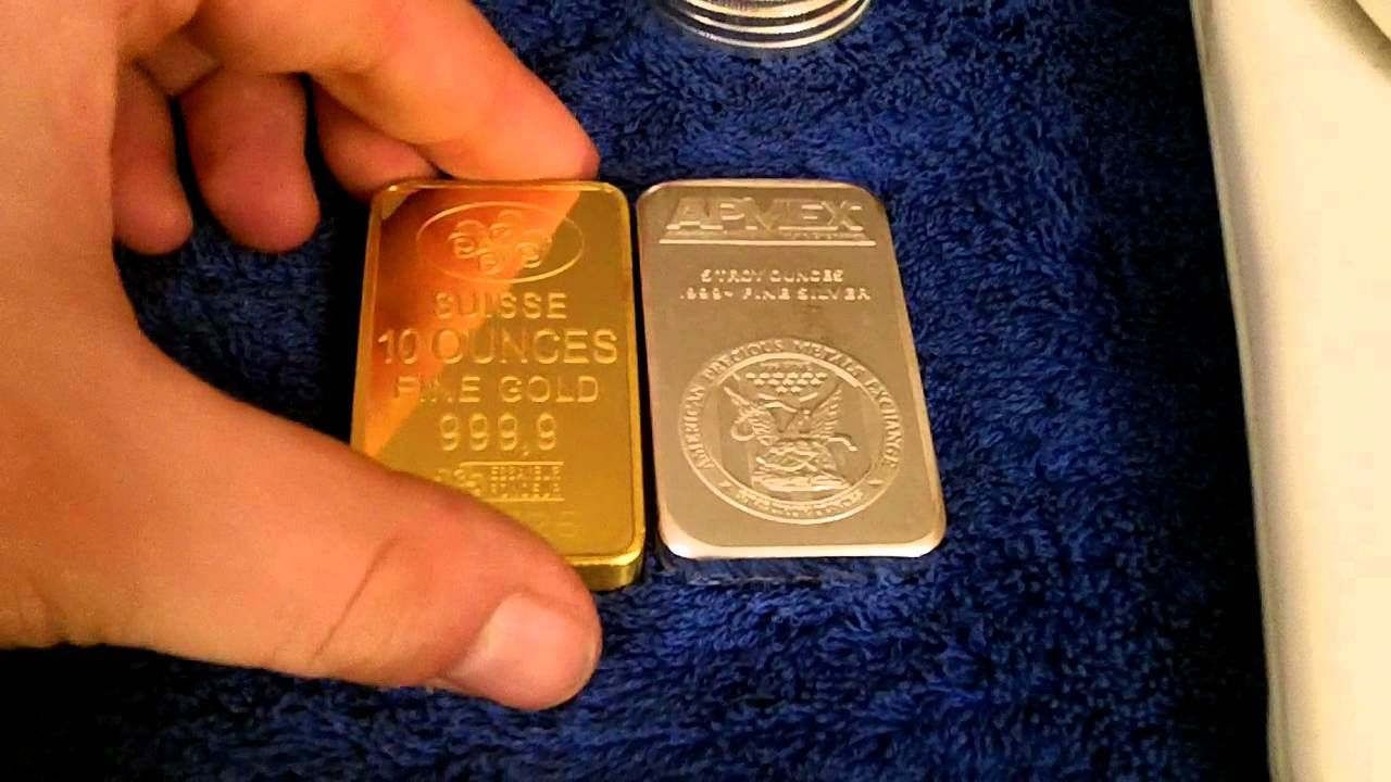 Comparing The Density Between Gold And Silver Bullion Gold Bullion Bars Gold Rate Gold Investments