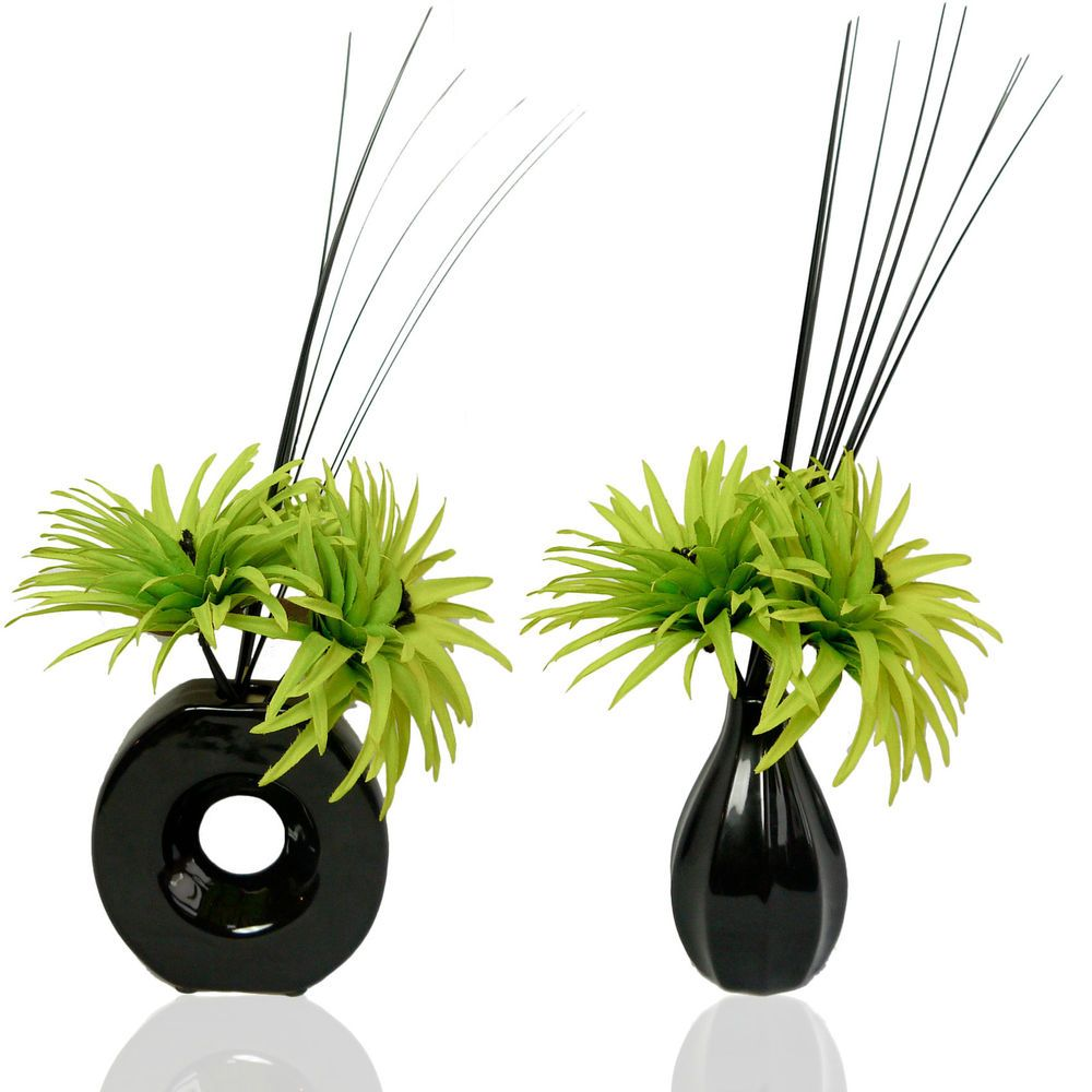 Two phoenix lime green silk artificial flower arrangements in vases two phoenix lime green silk artificial flower arrangements in vases with fillers mightylinksfo Images