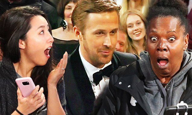 Hollywood tour bus group get surprise A-list meet and greet at Oscars