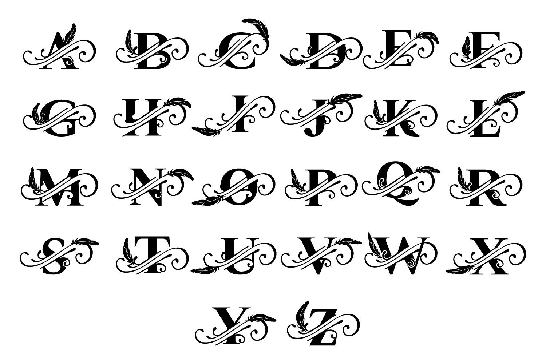 Beautiful Monograms Mega Pack Lettering design, Tattoo