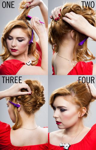 Hair how-to: the ultimate beehive tutorial by Rockalily Cuts