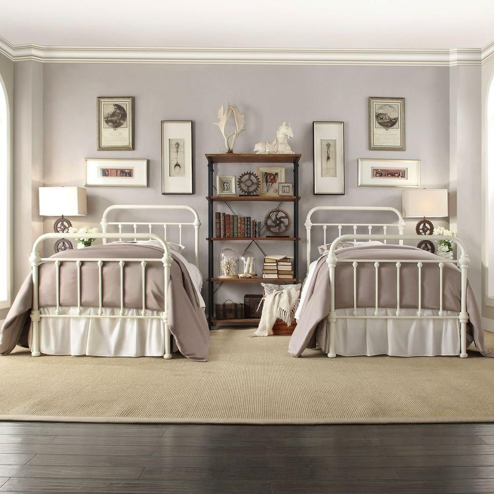 HomeSullivan Calabria White Twin Bed Frame 40E411BT1WBED