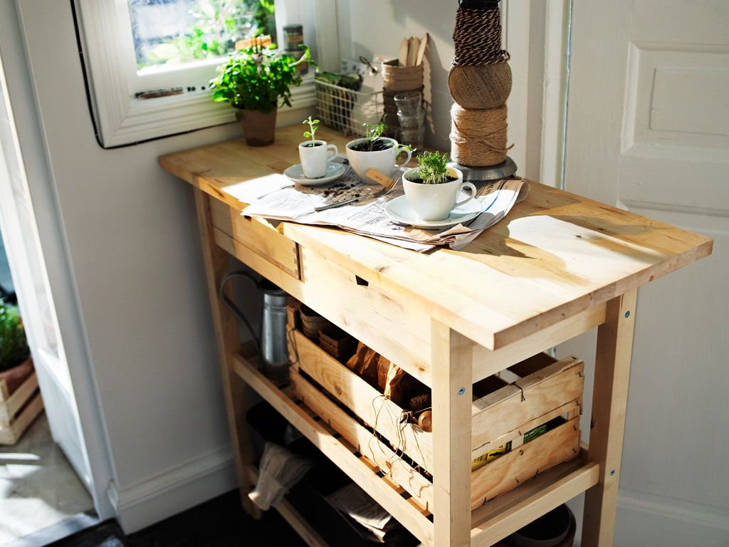 Ikea Cart Good For Kitchen Or Potting Bench Outside Home