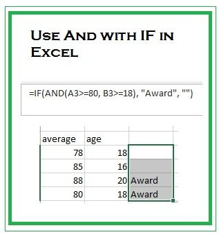 How To Use The And With If Function In Excel Excel Tutorials Excel Excel Formula