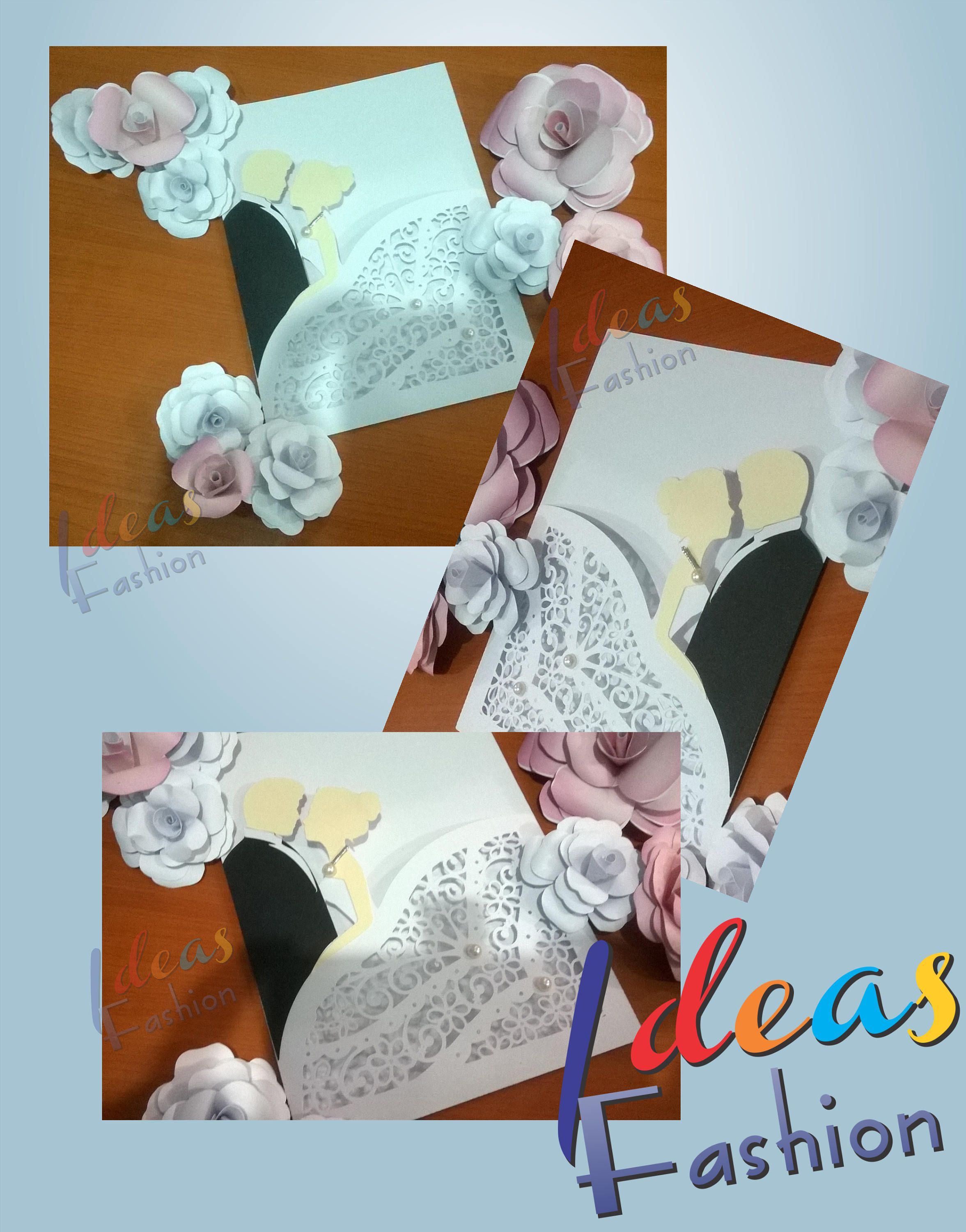Wedding Lace Card Templates Digital Cut SVG Files Wedding Invitation ...