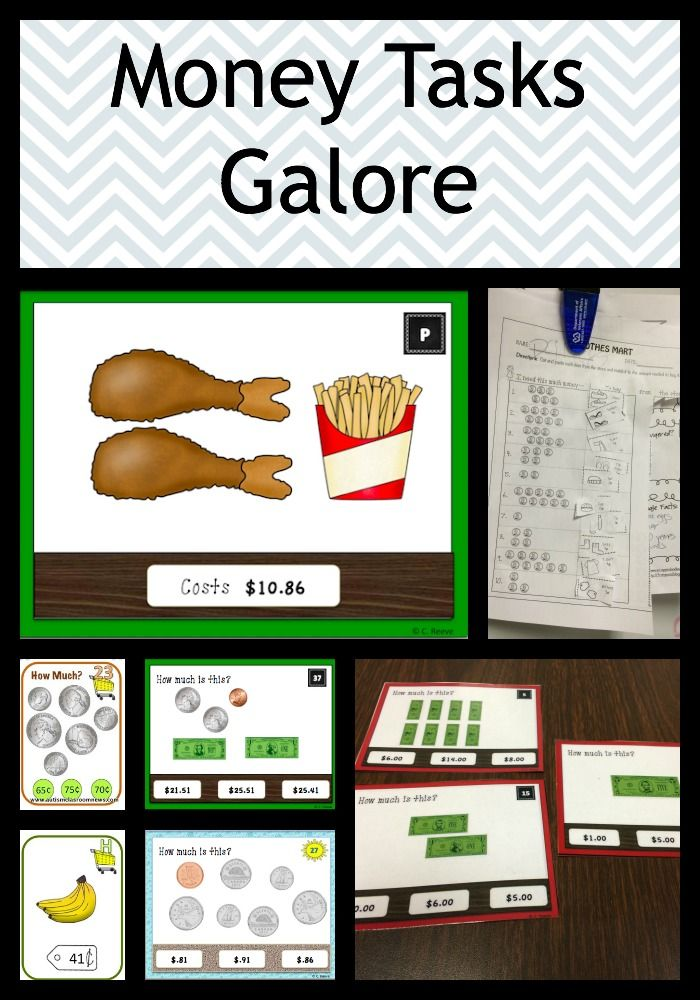 Money Tasks Galore Bundle Early Elem Special Ed Task