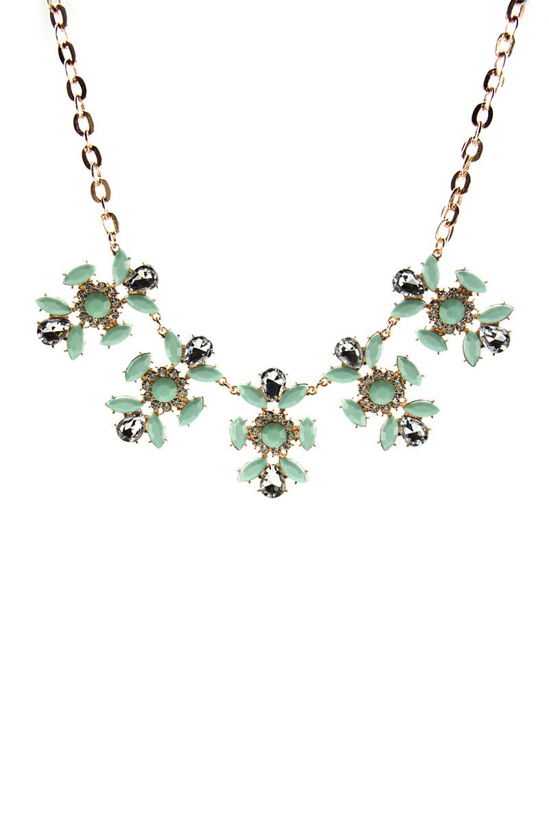 Ladies Flower Statement Necklace #mrpaccessories  Shop this online now: http://bit.ly/1r5wzJJ