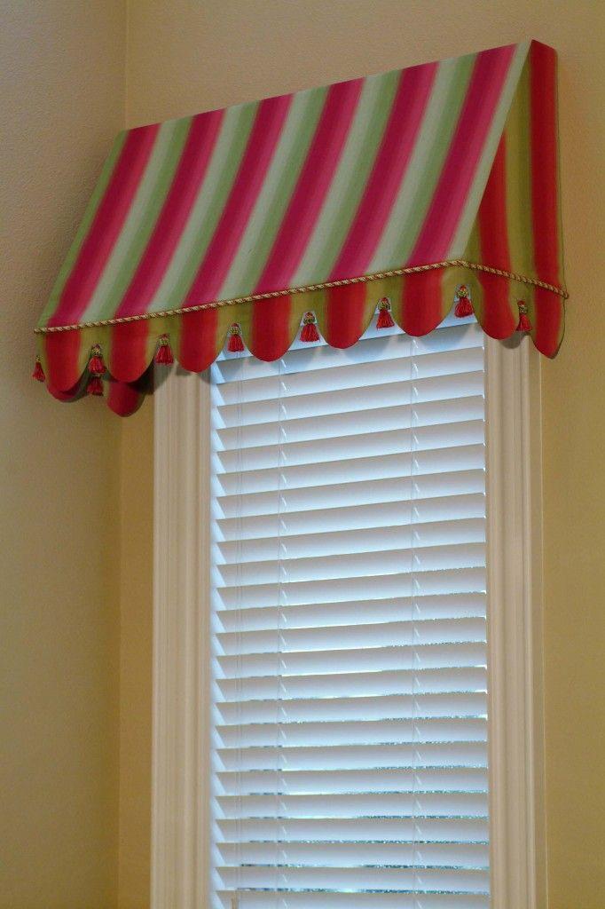 Awning Valance Window Coverings Canopy Bedroom Custom Window Treatments